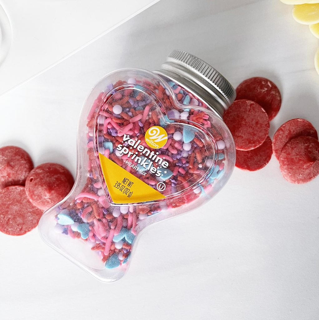 Valentine Sprinkles with Red Candy Coating Pieces