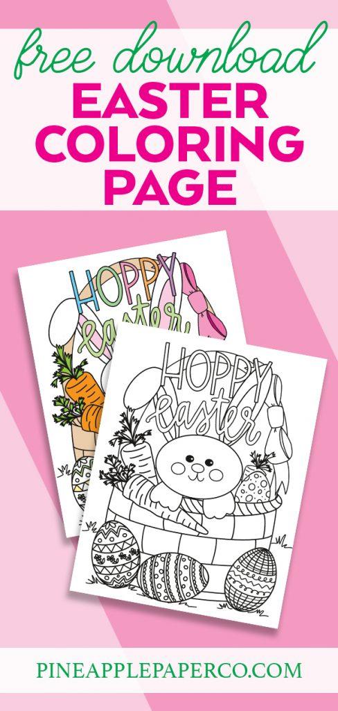 Free Hoppy Easter Printable Coloring Sheet