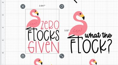 Making Flamingo Stickers in Cricut Design Space with Offset