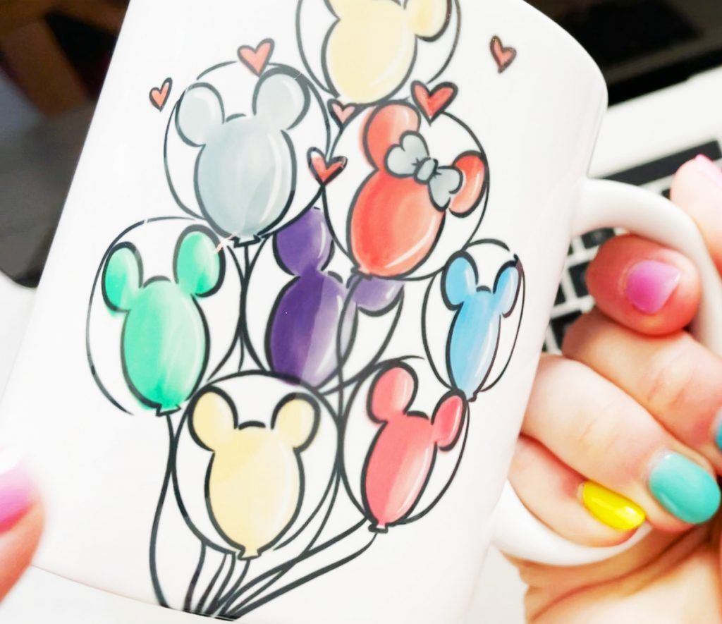 Mickey Balloon Sublimation Mug in Hand