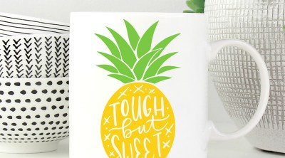 DIY Tough But Sweet Pineapple Mug with FREE SVG
