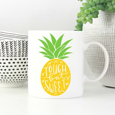 Free Pineapple Mug SVG