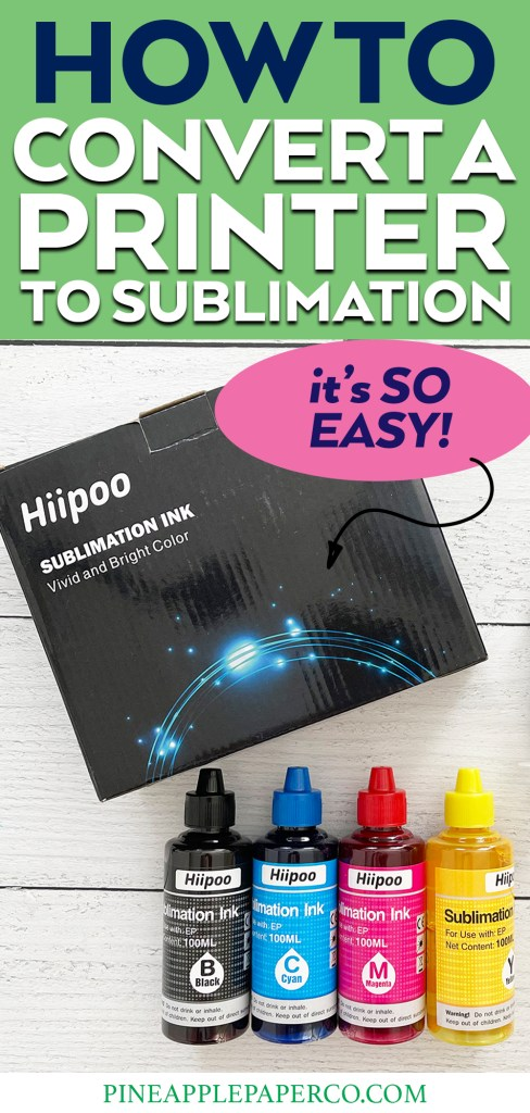 How to Convert an Epson Printer to Sublimation