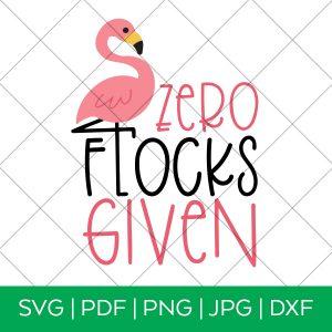 Zero Flocks Given Flamingo SVG with Grid