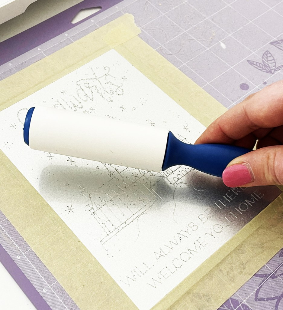 Lint Roller for Cricut Engraving Tool Project