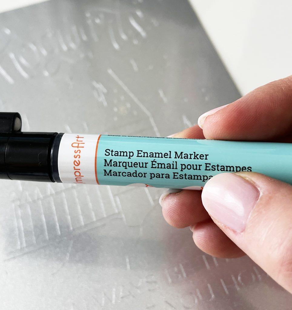 Impress Art Stamp Enamel Maker for Cricut Engraving Tool Project