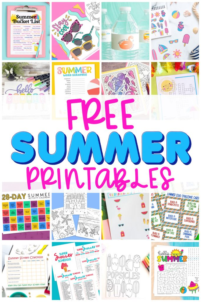 FREE Coloring Pages for the Beach plus 15+ Free Summer Printables at Pineapple Paper Co.