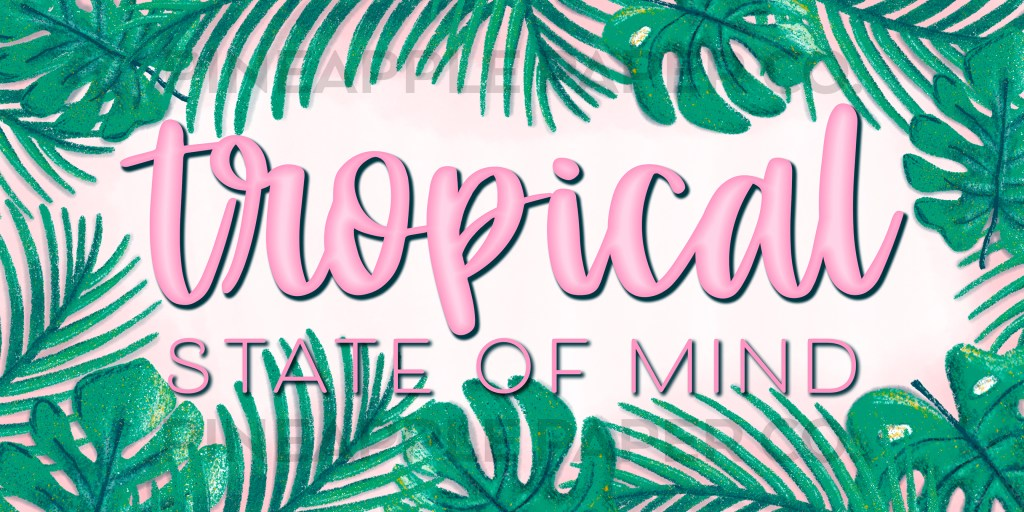 Tropical State of Mind Drawing for iPhone widget icon summer with Pineapple Paper Co. watermark