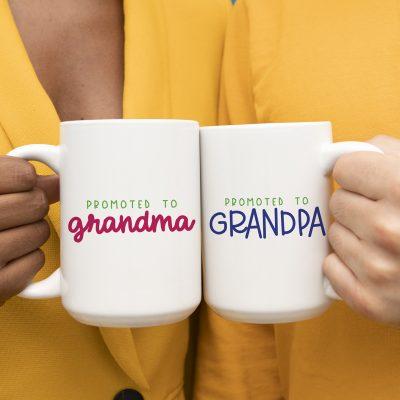 Free Promoted to Grandma & Grandpa SVG Files