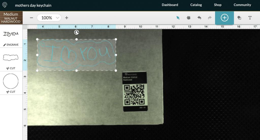 DIY Laser Cut Keychain on Glowforge App