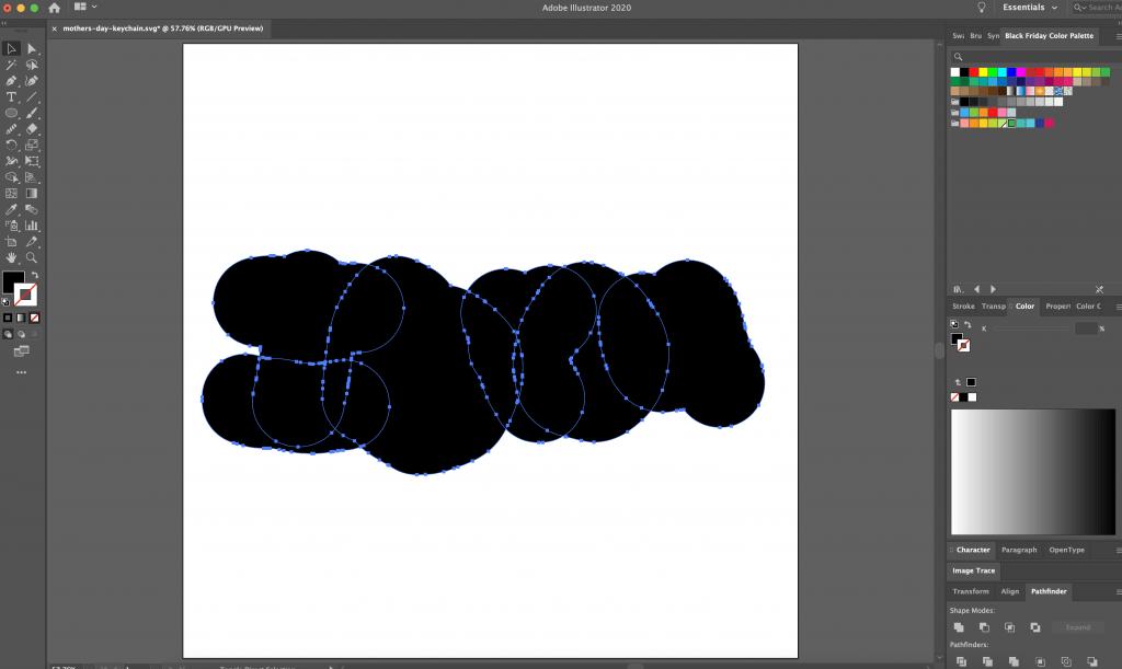 Adobe Illustrator Tutorial for making DIY Laser Cut Keychain from Handwriting on a Glowforge