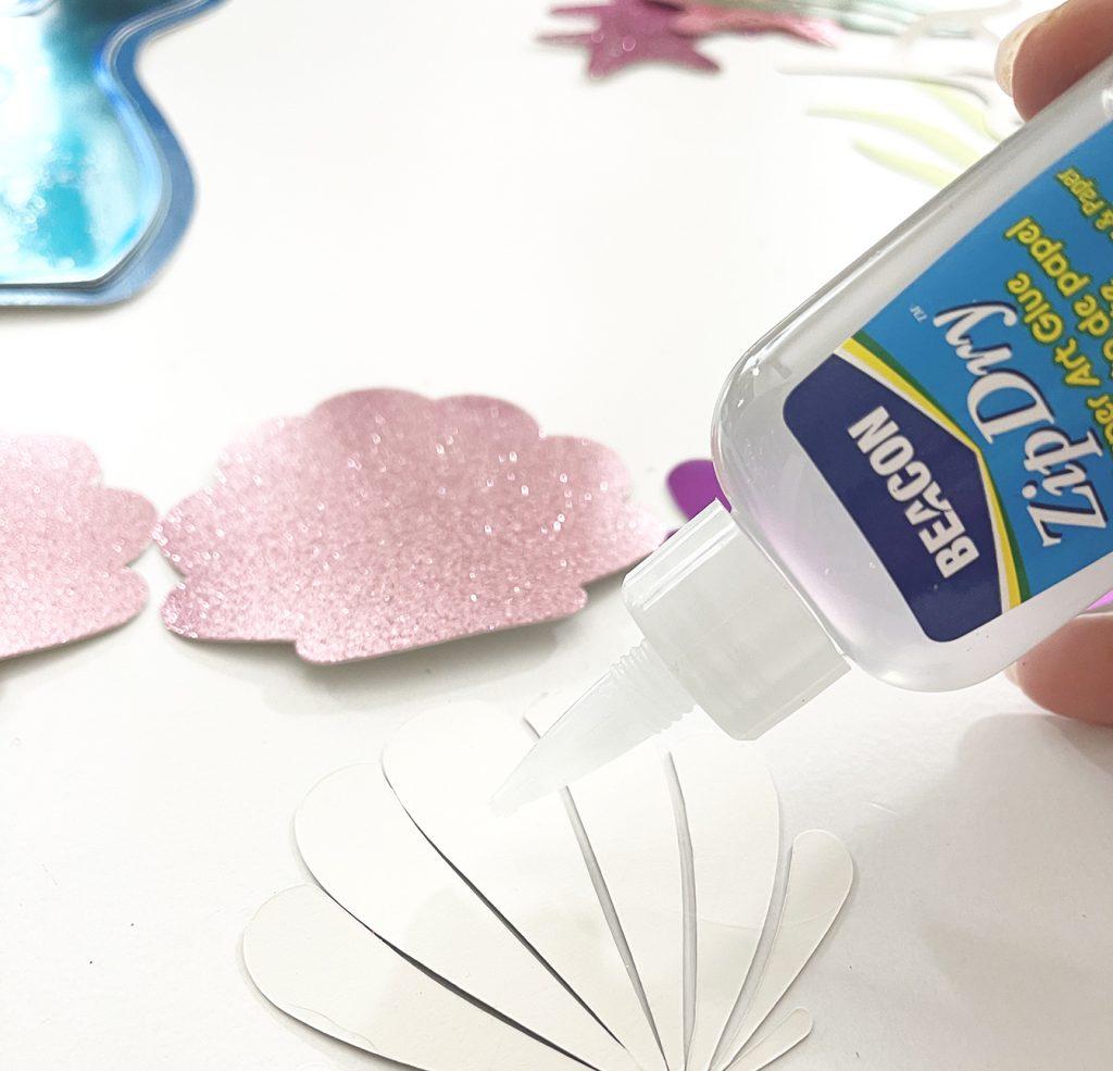 Using Beacon Zip Dry Glue to Assemble Mermaid Cake Topper