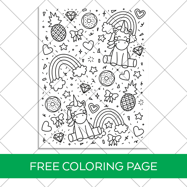 Download a FREE Unicorn Coloring Page Printable