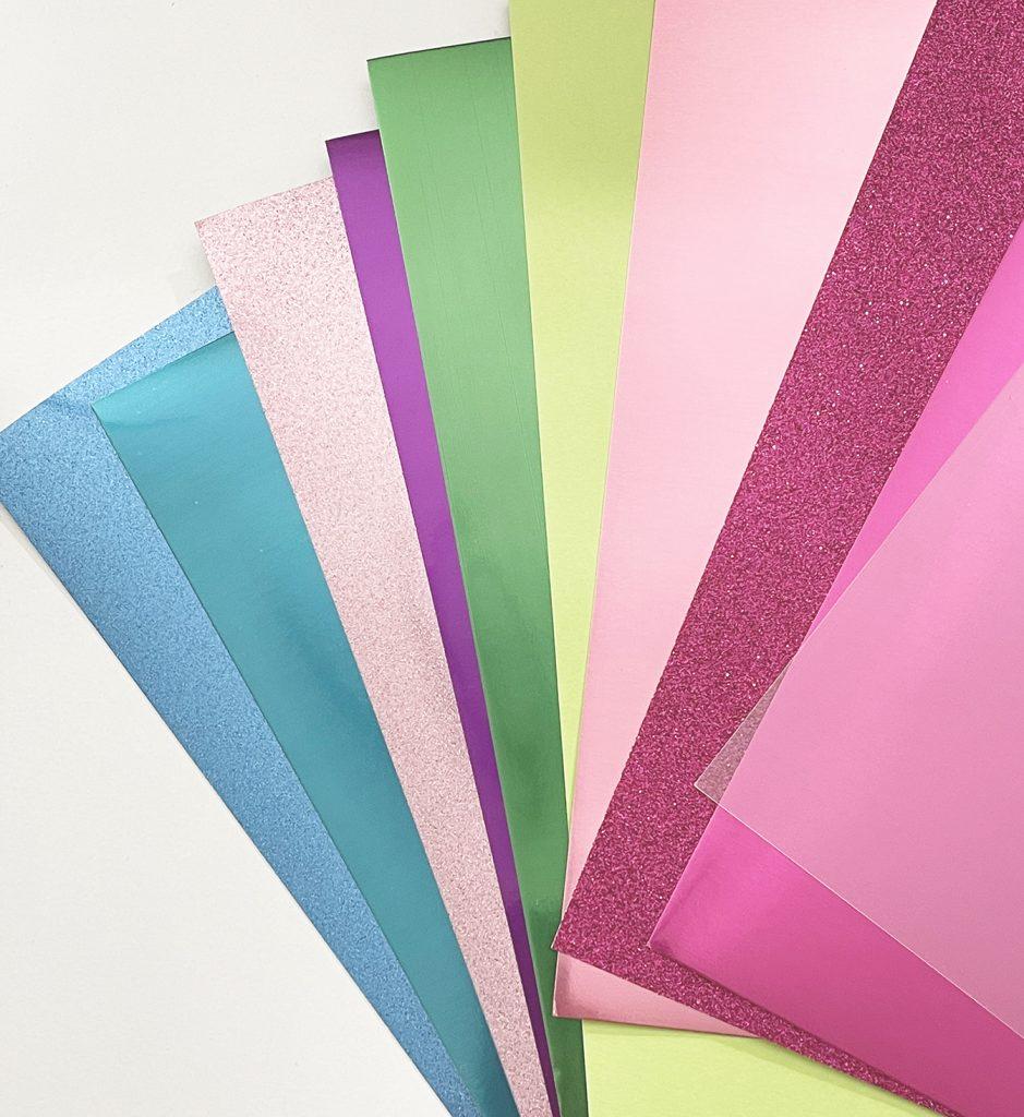 Cricut Paper Supplies for DIY Mermaid Cake Topper Idea