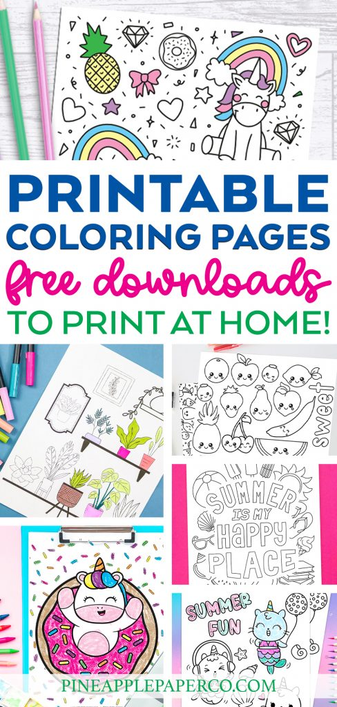 Free Printable Coloring Pages to Download, Print, and Color at Home