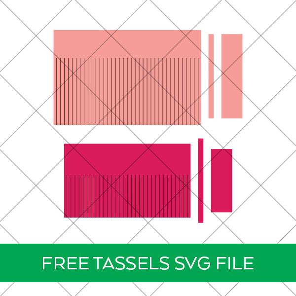 Two Sizes Free Cricut Tassels SVG File