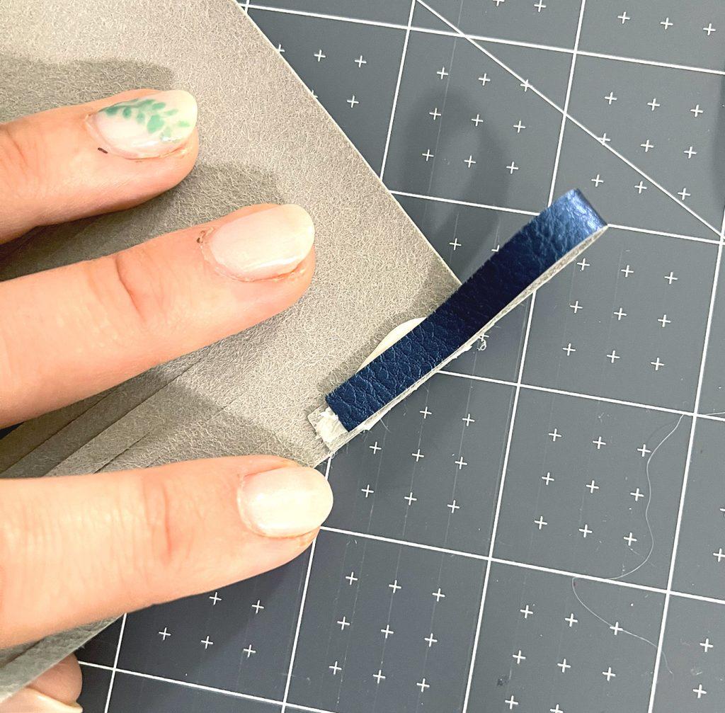 Glue Loop of Leather for DIY Leather Tassel Keychain