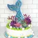 Mermaid Cake Topper SVG
