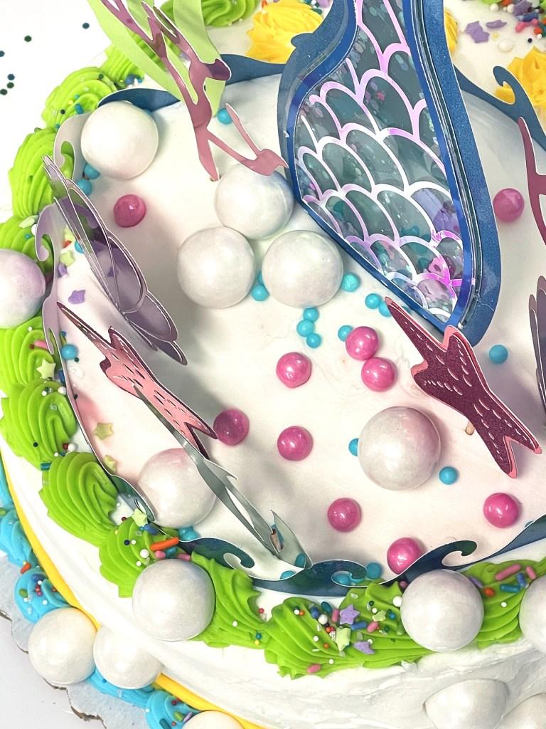 Mermaid Cake Topper Easy DIY with Cricut