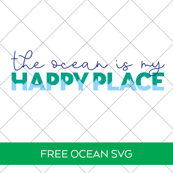 The Ocean is My Happy Place SVG File Behind Security Grid