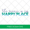 Free Ocean is My Happy Place SVG File