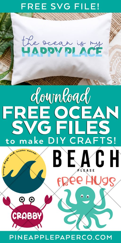 Download Free Ocean SVG Files to Make DIY Crafts with your Cricut