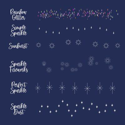 Free Sparkle Procreate Stamp Brush Set