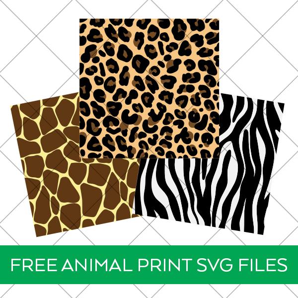 Free Leopard, Giraffe, and Zebra Animal Print SVG Files for Cricut