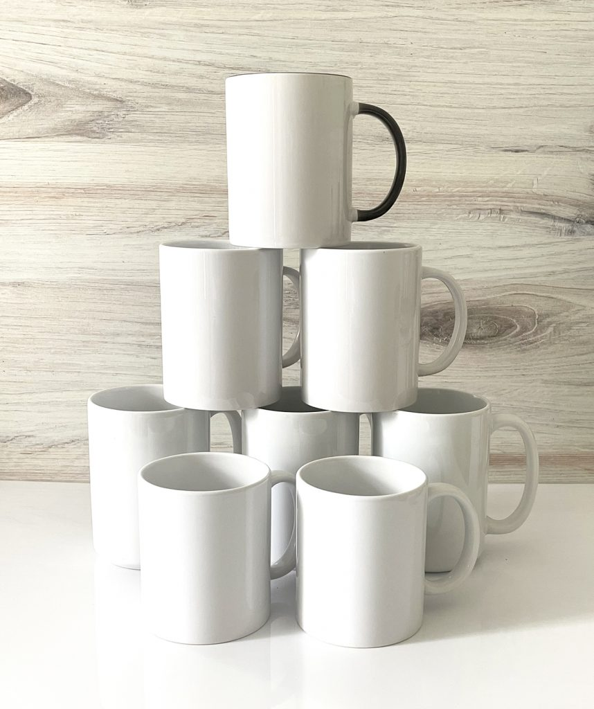 Blank Sublimation Mugs from Cricut and Amazon