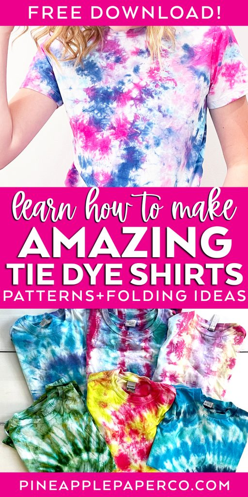 make amazing tie dye shirts with 10 easy patterns and folding ideas