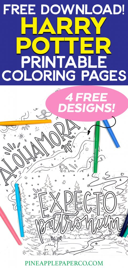 Free Harry Potter Coloring Pages with Markers