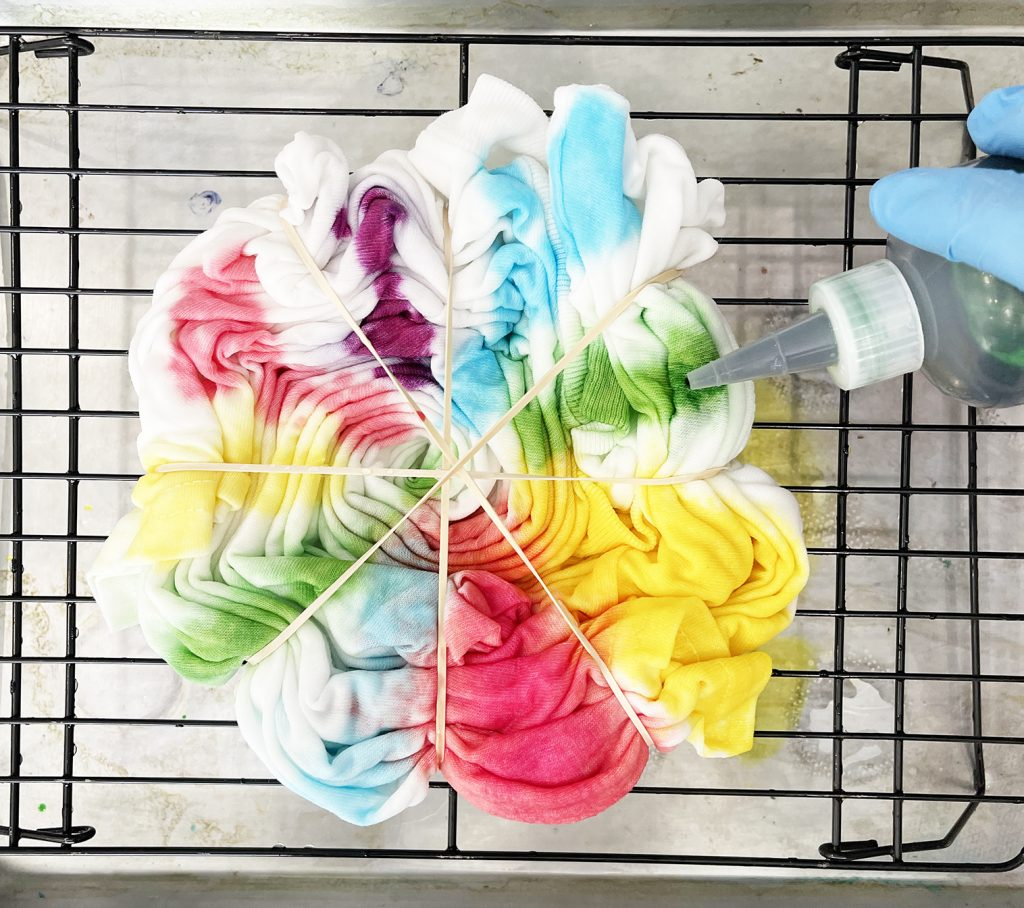 How to make a rainbow tie dye shirt