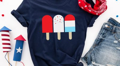 Free Patriotic Red White and Blue Popsicles from Free SVG on Navy Blue Patriotic Shirt