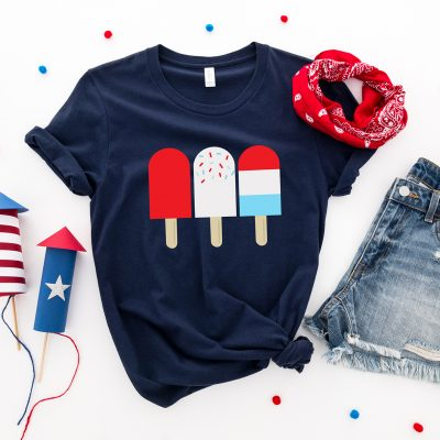 Free Patriotic Popsicle Clipart and SVG Files