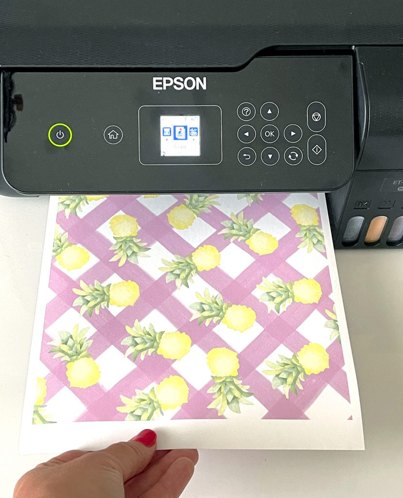 Printing a Sublimation Transfer on a Epson EcoTank Printer Converted for Sublimation