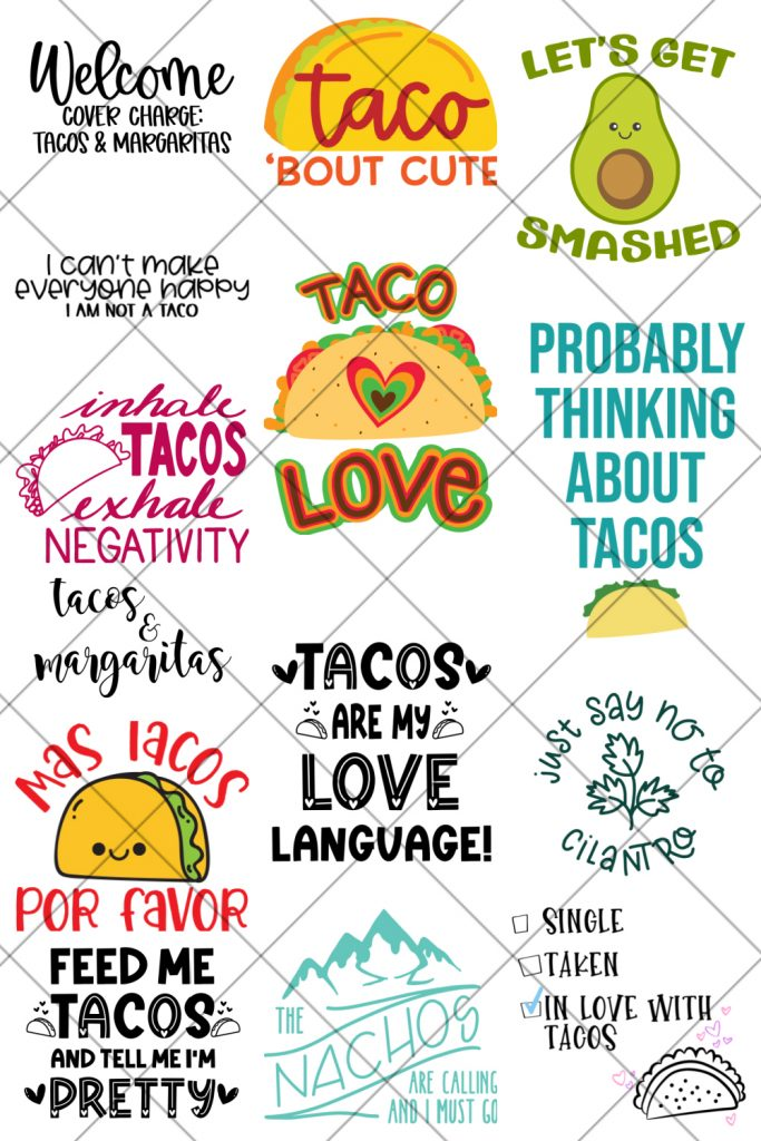 Free Taco SVG Cut Files for Cricut and Silhouette