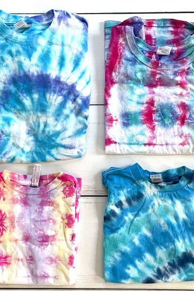 4 DIY Tie Dye Shirts