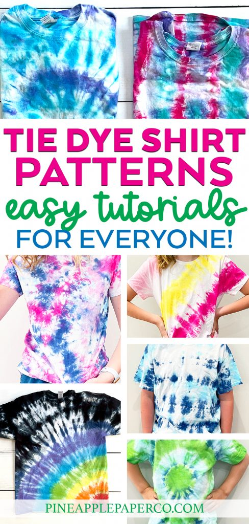 Tie Dye Patterns with 7 different examples