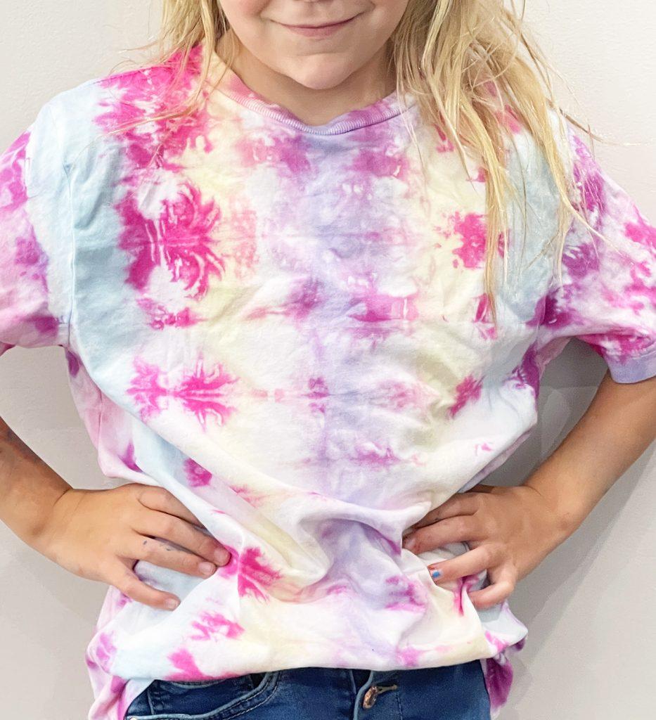 Pastel Rainbow Vertical Striped Tie Dye Shirt DIY