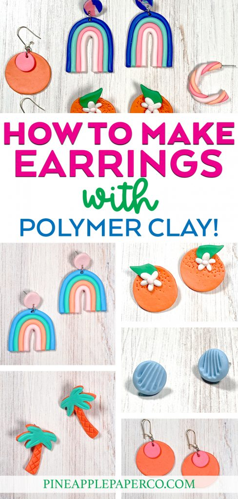 easy tutorials for how to make polymer clay earrings