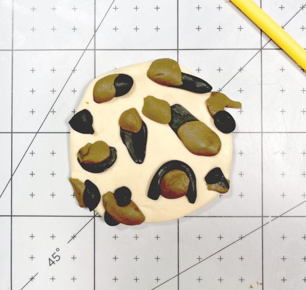 leopard print polymer clay slab