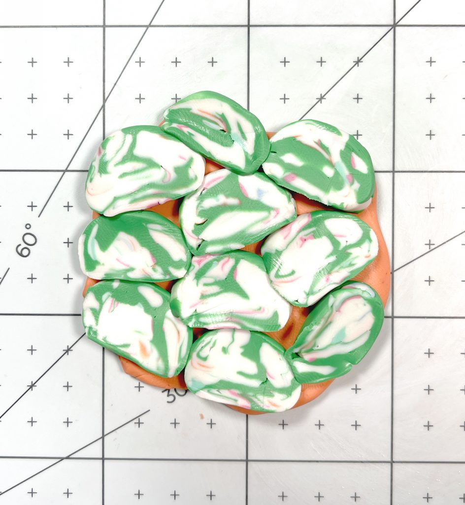 abstract marble polymer clay slab