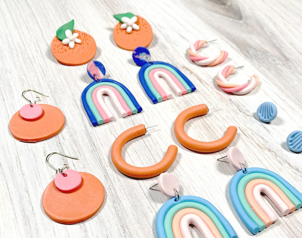 polymer clay earrings - how to make with tutorials