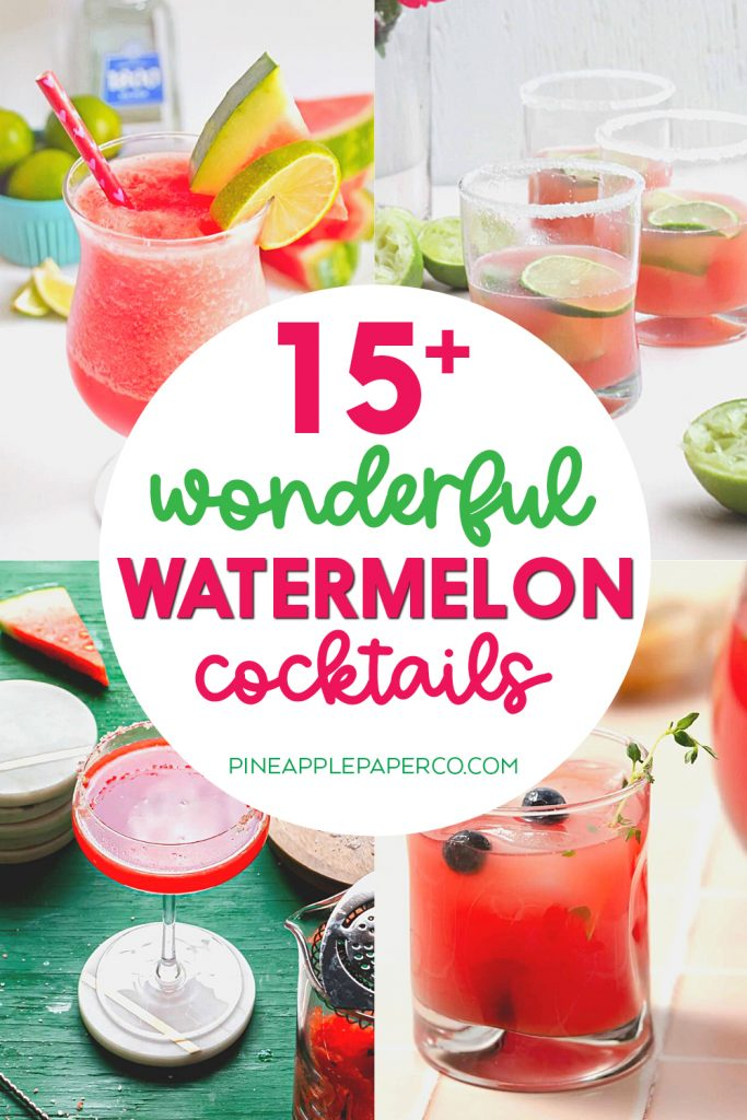 watermelon cocktails with 4 examples