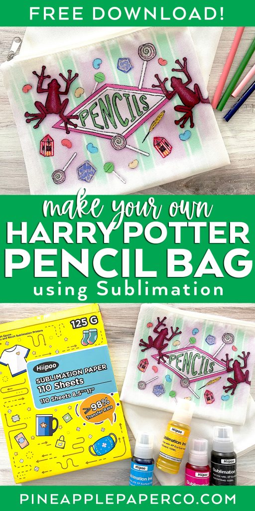 Make Your Own Harry Potter Pencil Bag with Free Sublimation Download
