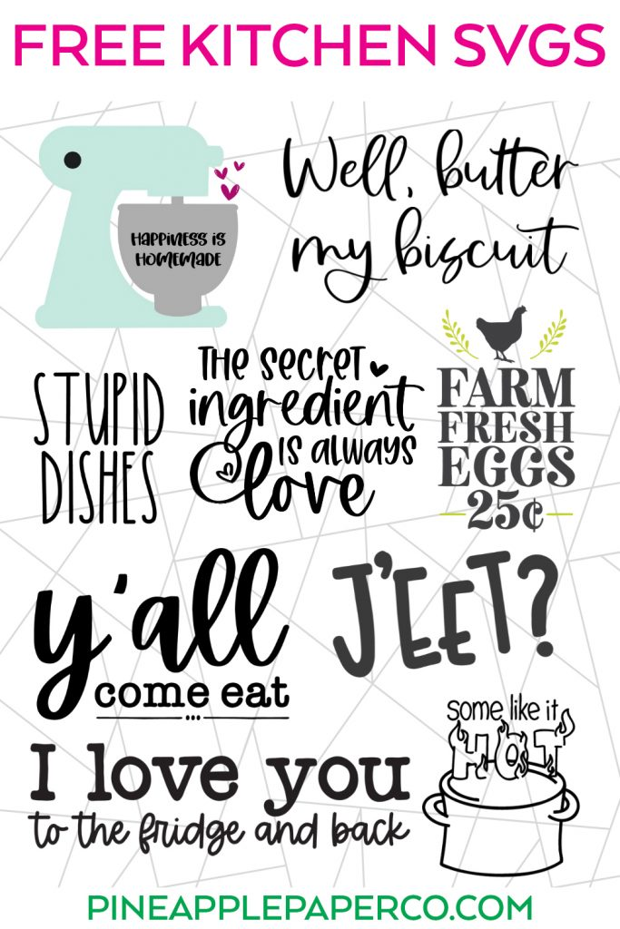 Free Kitchen SVG Files in Totally Free SVG August 2021 Blog Hop