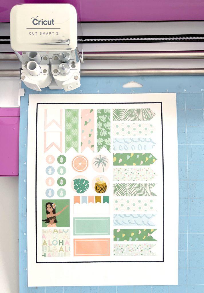 Print then Cut Summer Planner Stickers on Cricut Explore Air 2
