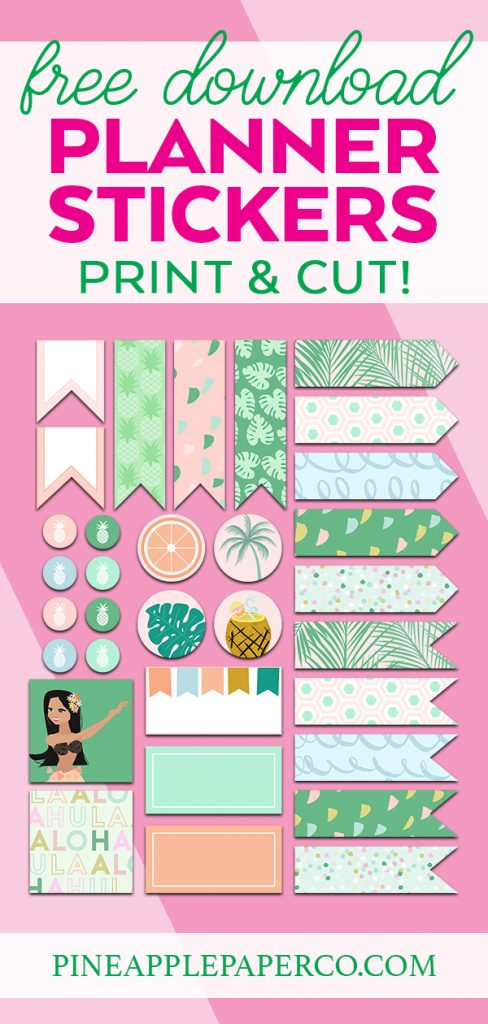 Free Summer Printable Planner Stickers