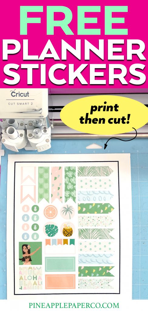 Print then Cut Printable Summer Planner Stickers on your Cricut or Silhouette