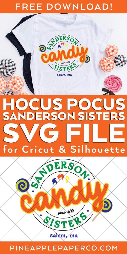 Free Sanderson Sisters Hocus Pocus SVG with Hocus Pocus Shirt
